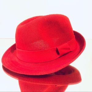 Forever 21 Red Trilby Fedora with adjustment band